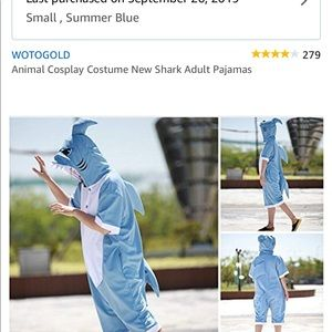 Other - Adult shark pajama outfit